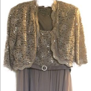 R & M Collection Dress Champagne color